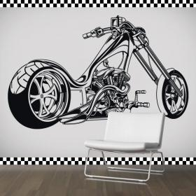 Vinyl stickers and stickers bike Chopper