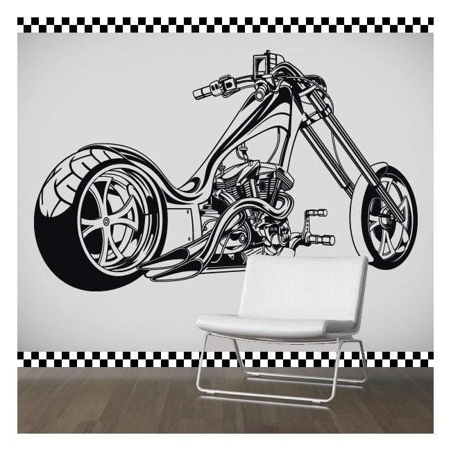 Vinyl stickers and stickers bike Chopper