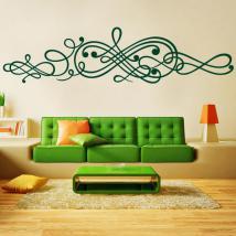 Decorative adhesive vinyl sticker filigree
