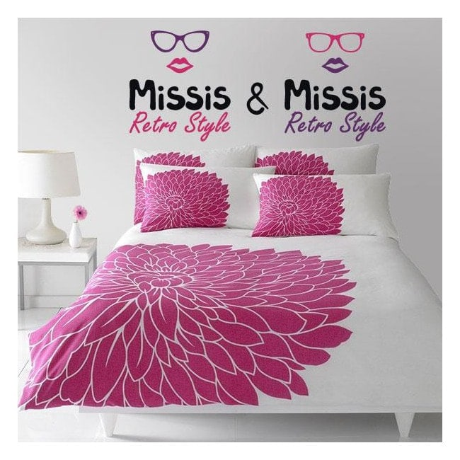 Vinyl decorative stickers Missis and Missis
