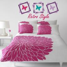Decorative vinyl headboards Retro Butterfly bed