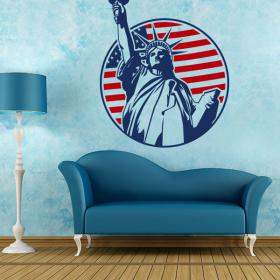 Vinyl decorative statue of liberty New York