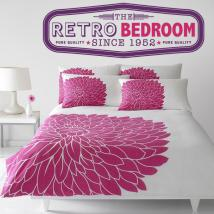 Retro stickers and decorative Bedroom