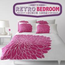Retro stickers and decorative Bedroom