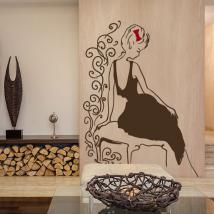 Vinyl decorative silhouette female Glamour