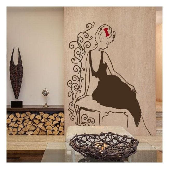 Vinyl decorative silhouette female Glamour