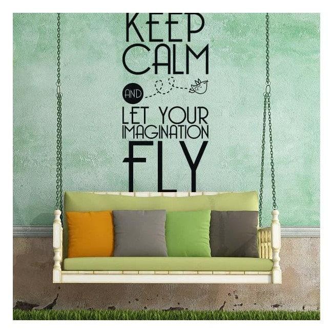 Vinyl decorative phrases and texts Keep Calm