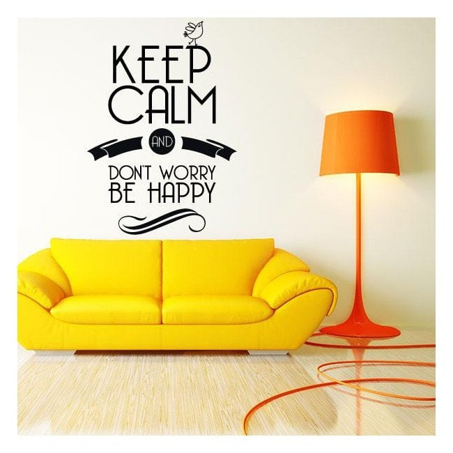 Decorative vinyl stickers and stickers Keep Calm