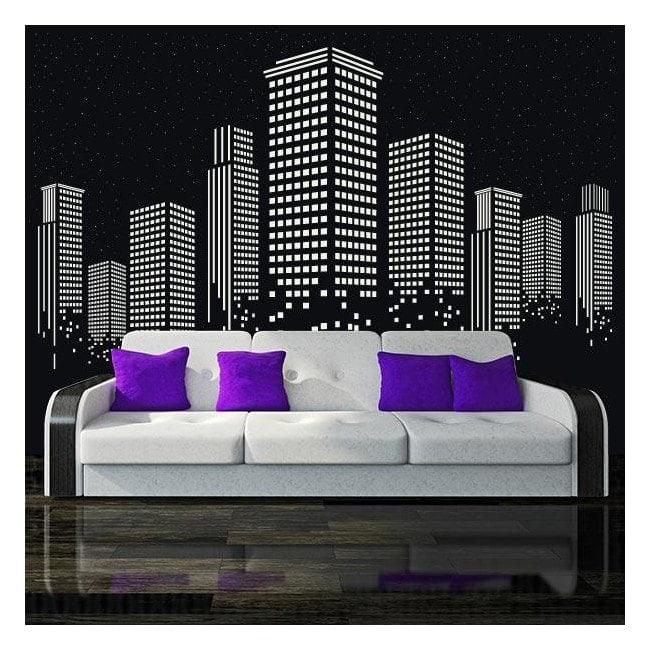 Vinyl adhesive decorative starry night