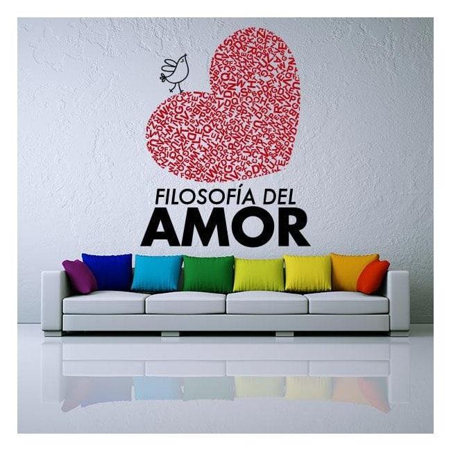 Vinyl decorative phrases philosophy of love