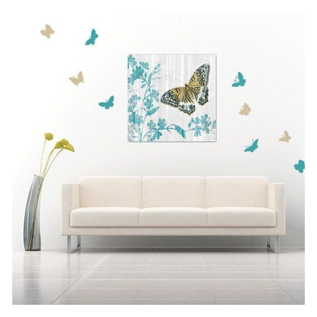 Decorative vinyl stickers and stickers butterflies