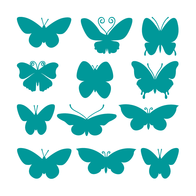 Decorative vinyl stickers and stickers butterflies for Stickers pared baratos