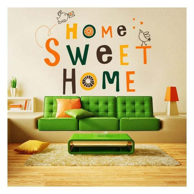 Decorative vinyl and sticker home sweet home for Stickers pared baratos
