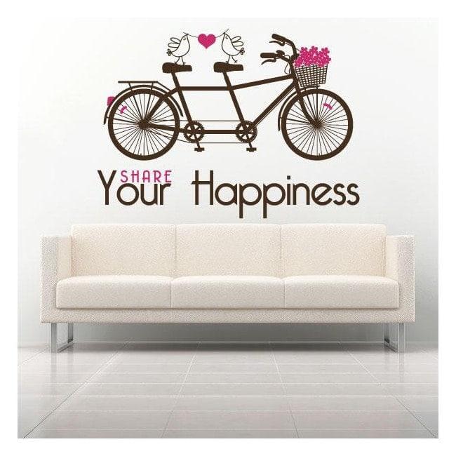 Decorative vinyl phrase Share Your Happiness