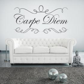 Decorative vinyl stickers Carpe Diem