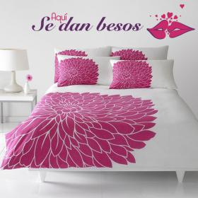 Vinyl decorative phrases here is give kisses