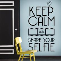 Decorative vinyl Keep Calm And Share Your Selfie
