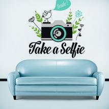 Decorative vinyl Stickers Take a Selfie