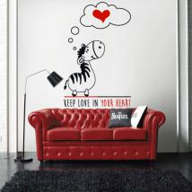 Vinyl decorative Zebra romantic phrase