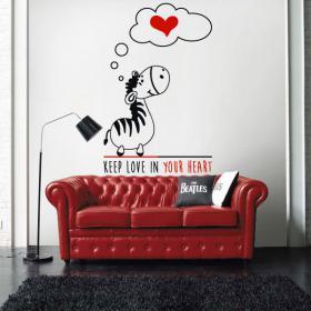 Vinyl decorative Zebra romantic phrase