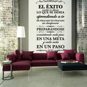Decorative vinyl quotes and phrases success