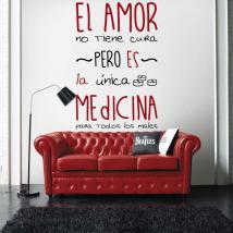 Vinyl adhesive decorative love medicine