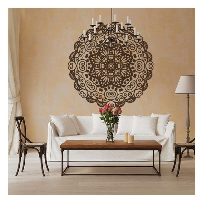 Wall decoration stickers mandala - Stickers para decorar paredes ...