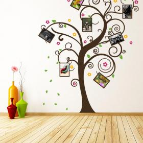 Decorative vinyl tree family photos