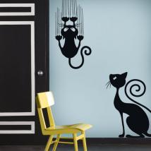 Decorative vinyl stickers and sticker cats