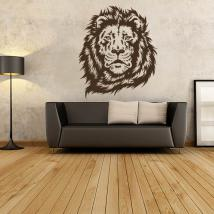 Vinyl decorative silhouette lion face
