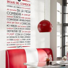 Vinyl decorative rules of the dining room