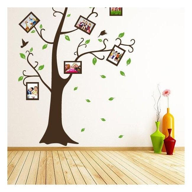 Stickers wall tree family photos