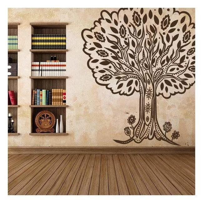 Decorative vinyl tree Tribal