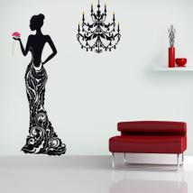 Stickers wall silhouette woman Deluxe