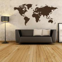 Decorative vinyl sticker and sticker world map