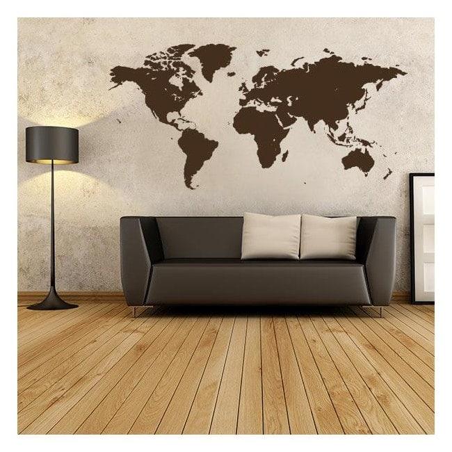 Decorative vinyl sticker and sticker world map