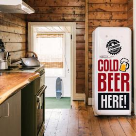 Decorative vinyl Stickers Cold Beer Here