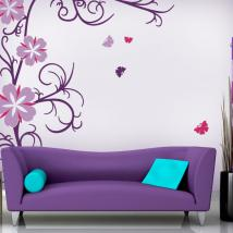 Decorative vinyl and Stickers flowers