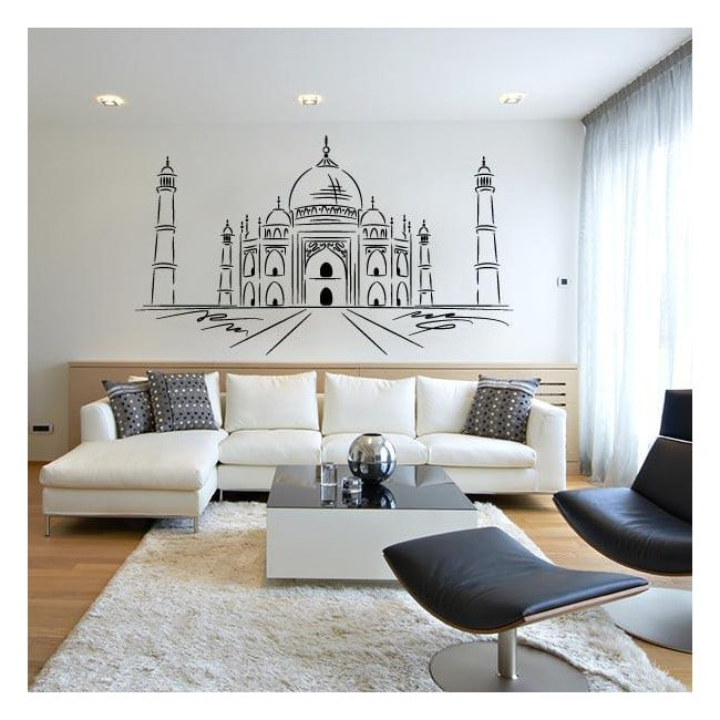 Luminescent panels dividing fluowall Taj Mahal