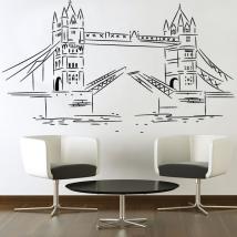Decorative vinyl Stickers London Tower Bridge