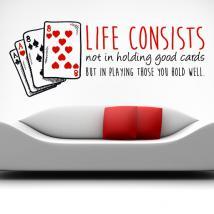 Decorative vinyl Stickers Life Quotes
