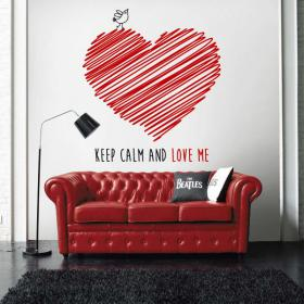 Decorative vinyl Keep Calm And Love Me