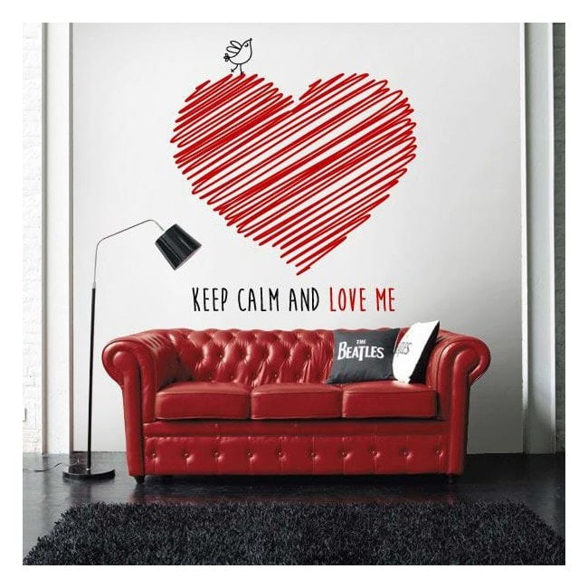 Decorative vinyl Keep Calm And Love Me