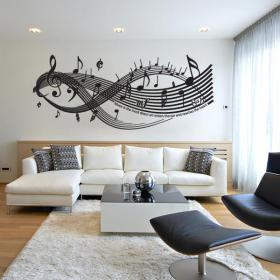Vinyl wall Sticker Music Is The Most Direct Art