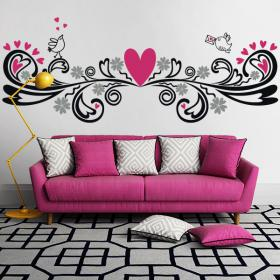 Decorative vinyl walls with a touch of love