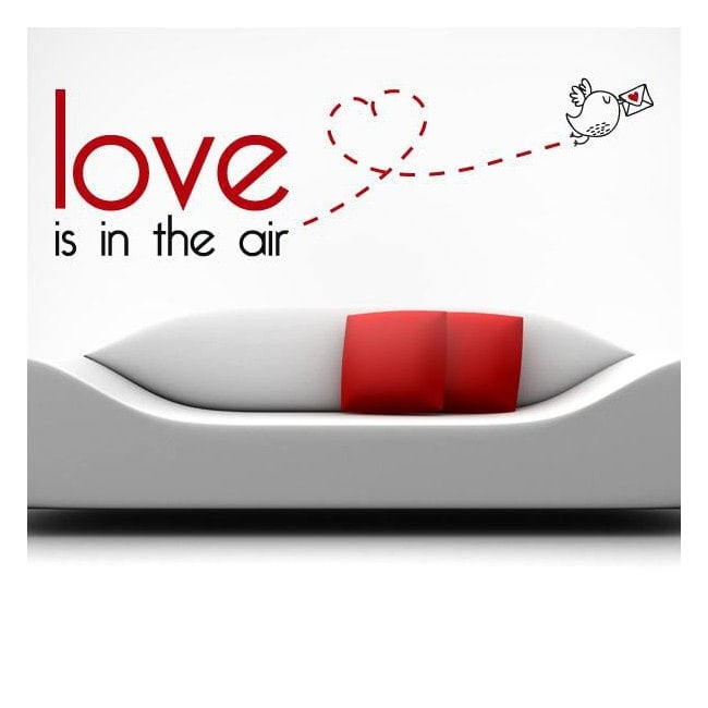 Decorative vinyl English phrases Love Is In The Air