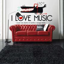 Decorative vinyls I Love Music