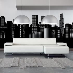Decorative vinyl panoramic city Skyline