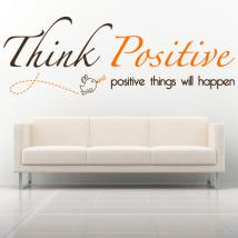 Decorative vinyl English phrase Think Positive