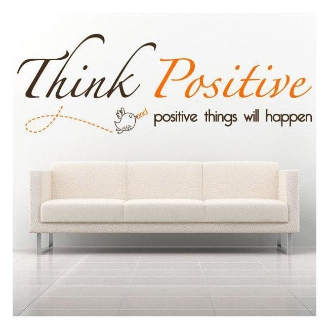 Decorative vinyl English phrase Think Positive
